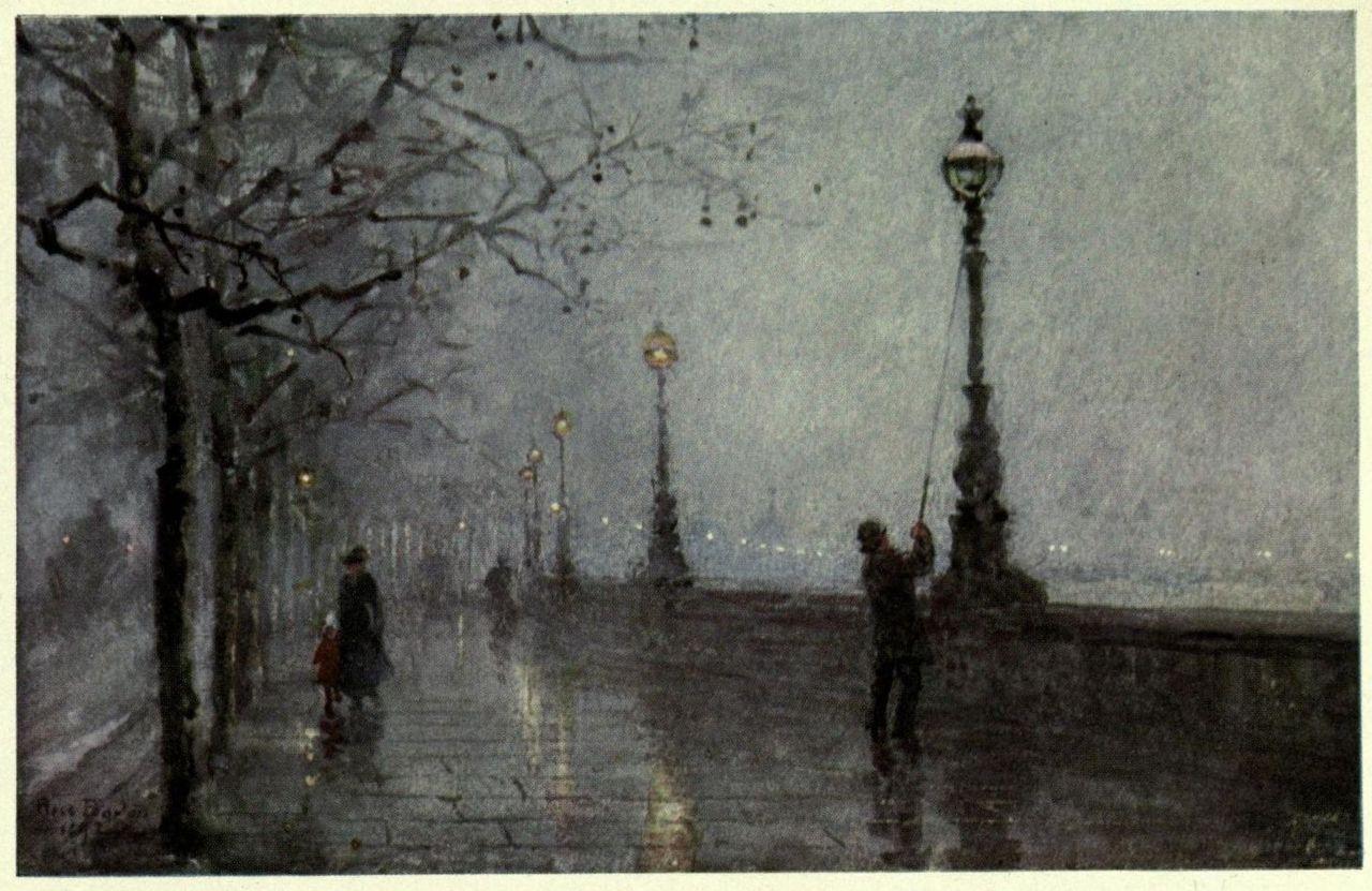 Stevenson the lamplighter playing in the world game for Lamp light poem