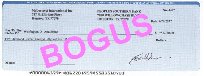 Ben Carson Bogus Check 2