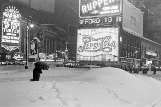 Times Square 1947 Blizzard