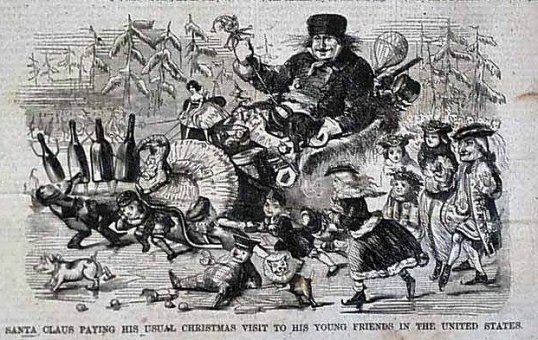 EarlySanta1858Harper'sWeekly