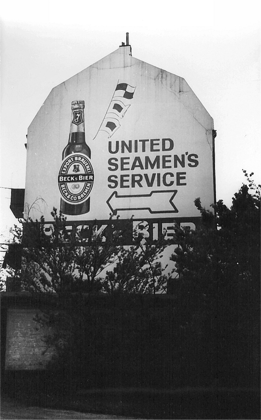 Europe Trip - Jun 1971 - Bremerhaven - USS sign