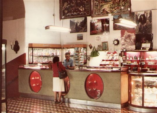 Naples - 1970 - Daniele at the Gift Shop