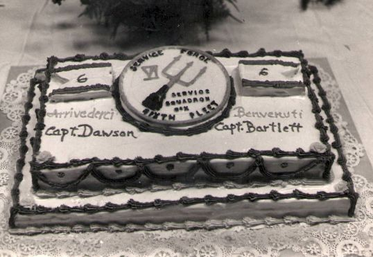 USS Naples - Change of Command Cake