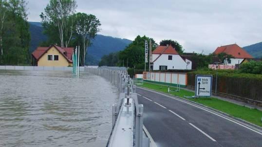 Hochwasserschutz, Weißenkirchen, NÖ, Wachau
