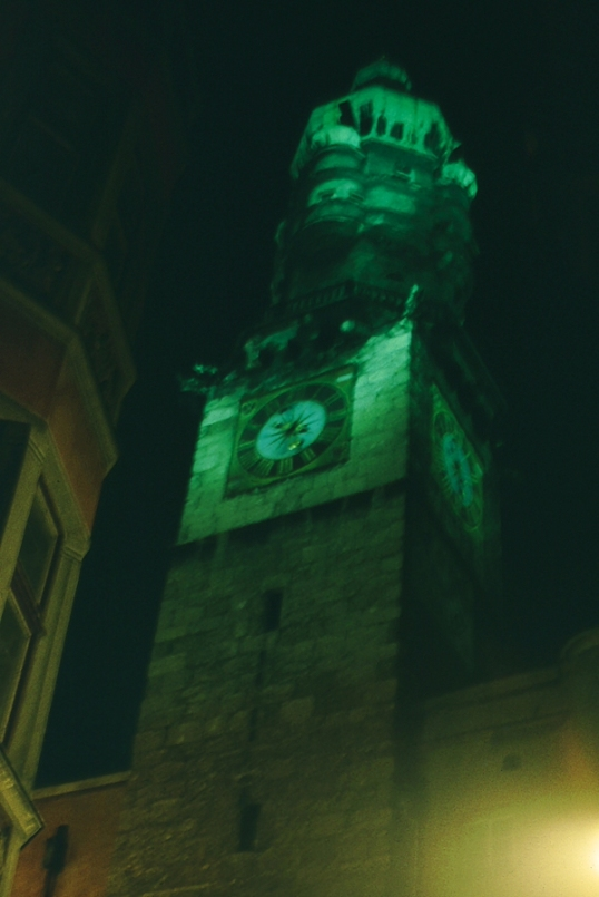 Innsbruck - Altstadt - Clock Tower at Christmas