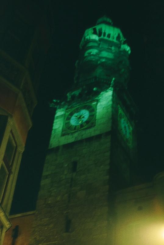 Innsbruck - Altstadt - Clock Tower at Christmas