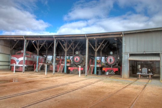 Part_of_the_Roundhouse_at_the_Steamtown_Heritage_Rail_Centre_-_showing_some_of_the_engines_on_display_at_the_museum