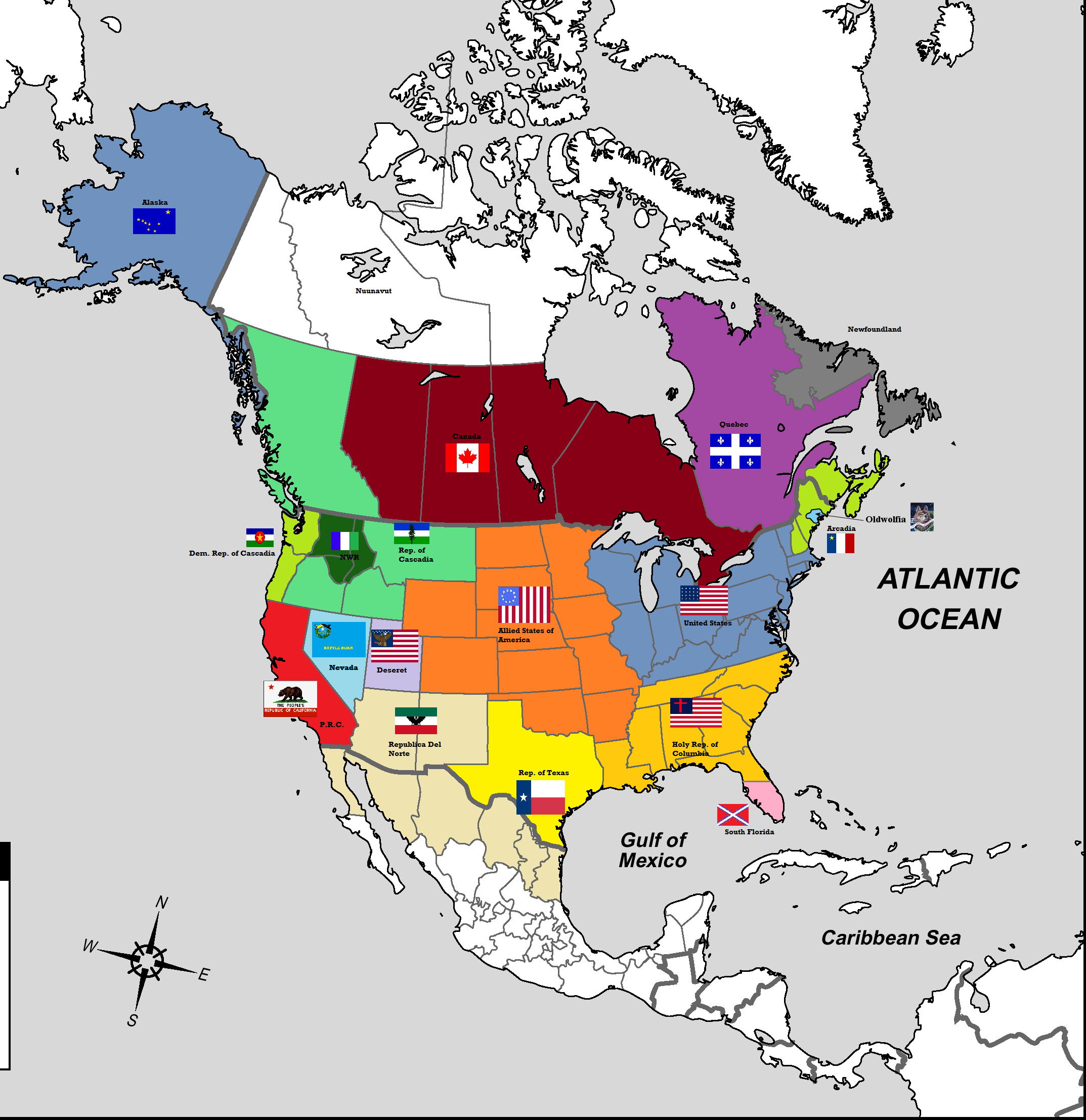 What might north america look like after the happening