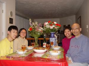 me & my Family on dinning table