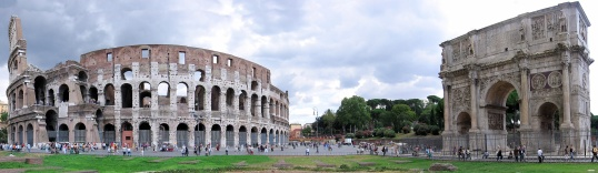 Colosseum-Arch-of-Constantine-Rome-italy-panorama-photo-by-Konrad-Zielinski-son-of-Julo