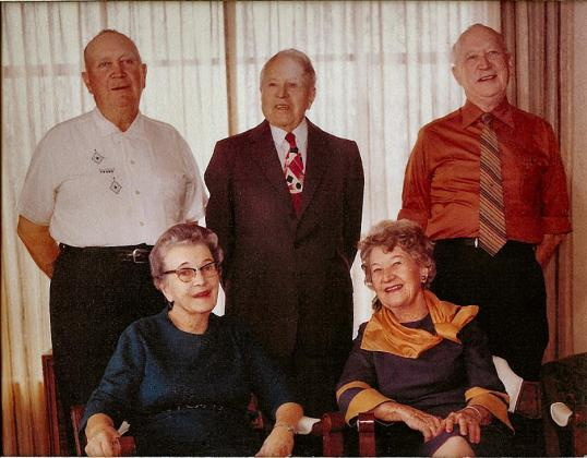 Frances, Lucille, Bill & Vic Rogers with Leo Marshall