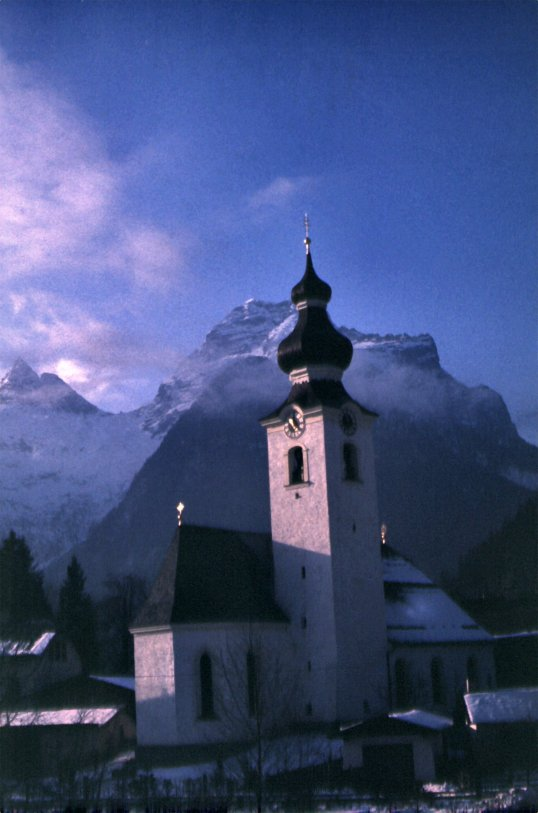 Lofer, Austria at Sunrise