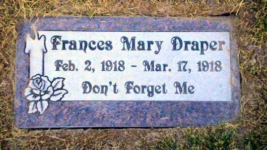 Frances Mary Draper Headstone