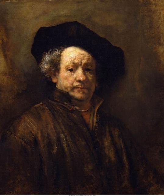 Rembrandt van Rijn Self-Portrait (with Black Beret) 1660
