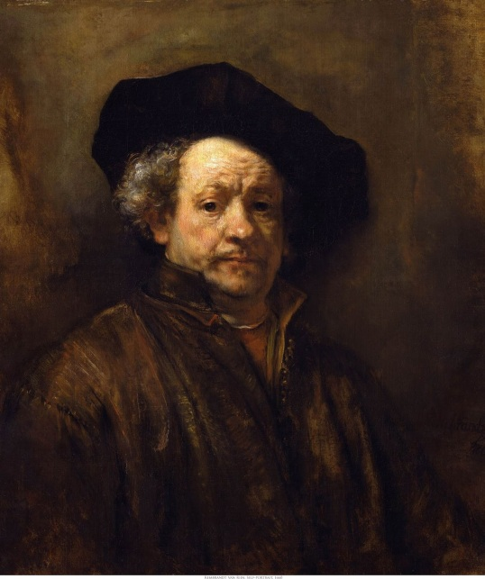 Rembrandt van Rijn Self-Portrait (with Black Beret) 1660