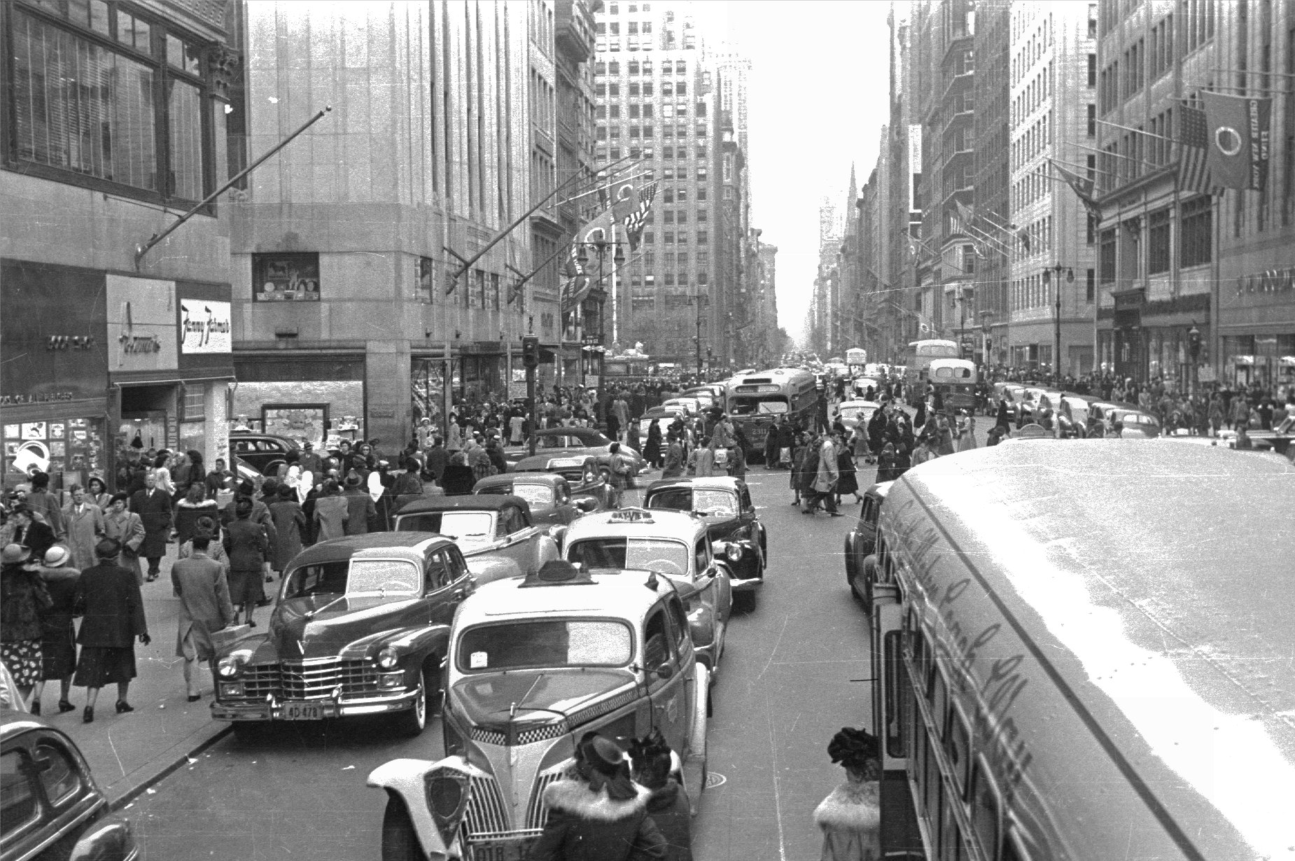 New York 1950s Playing In The World Game