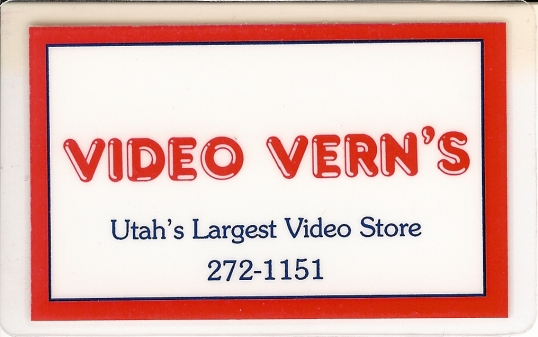 Video Vern's Membership Card