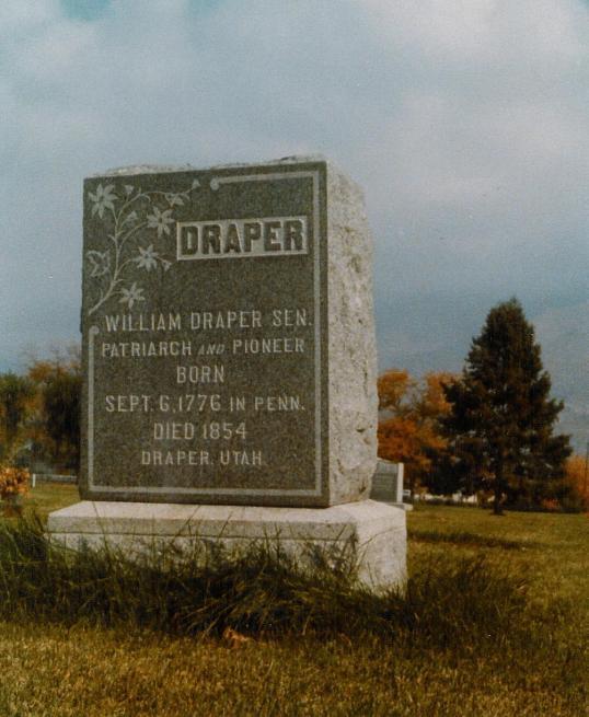 William Draper Senior Tombstone - Incorrect Birthdate