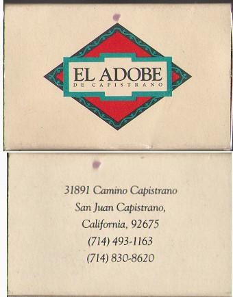 El Adobe San Juan Capistrano