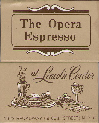 Opera Espresso Lincoln Center