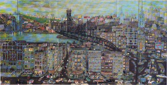 Ralph Fasanella, New York City, 1959