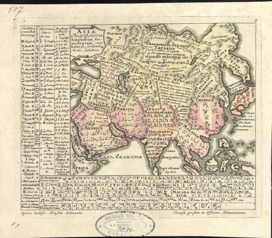 1741 Language Map