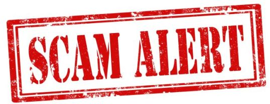 Scam Alert-stamp