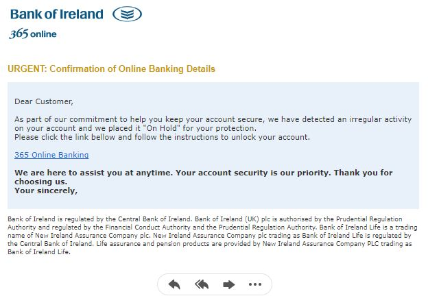 Bank of Ireland Phishing