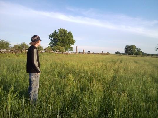 20090518 - Michael Contemplates Gettysburg