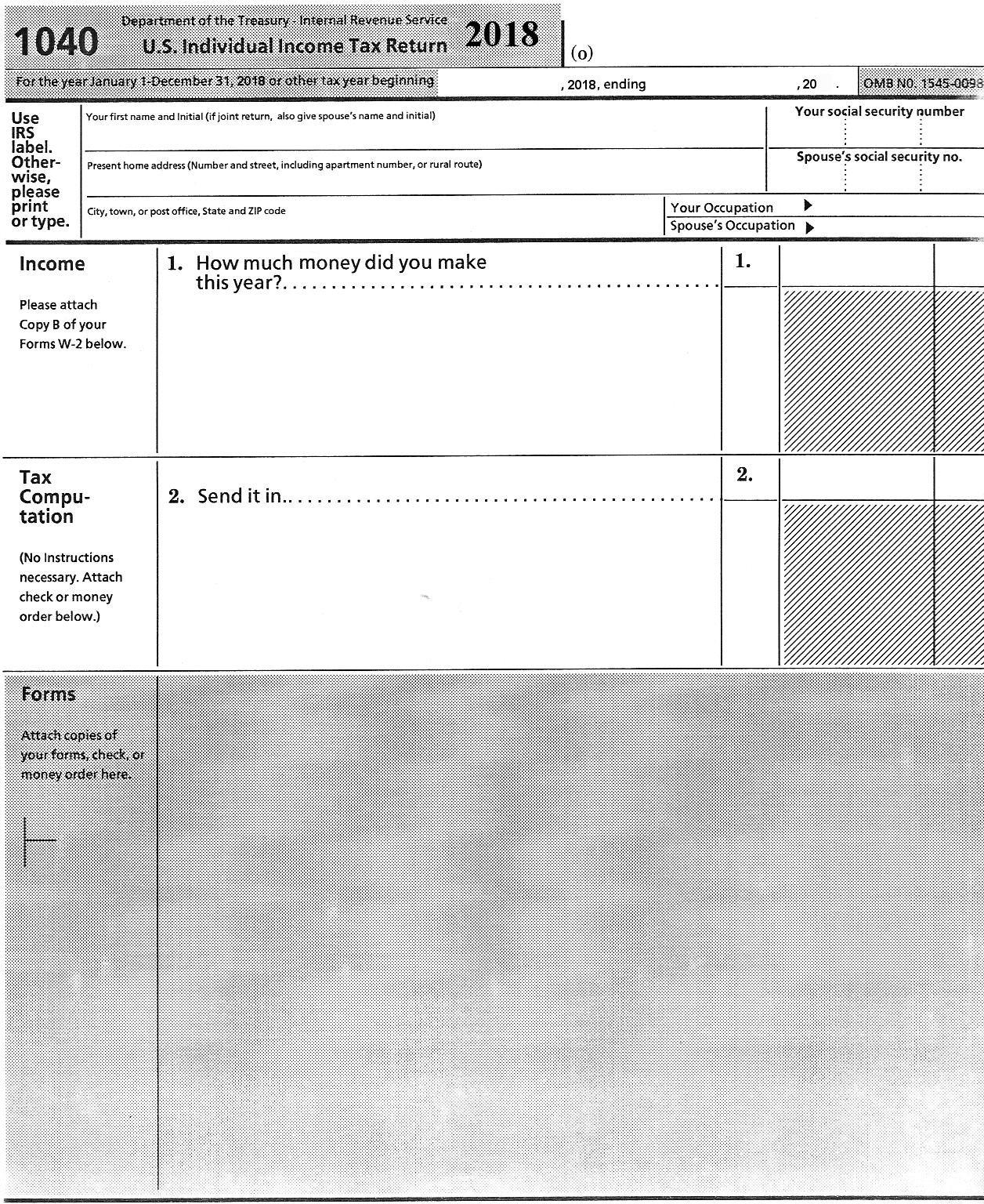 2018 Tax Form